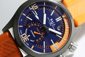 限定1000本スイス製BALLWATCH【ボール・ウォッチ】エンジニアマスター2ダイバーTMT自動巻き腕時計/並行輸入品/送料無料/300m防水/マイクロガスライト/DLCコーティング/温度計付き