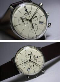直径約36ミリ!ドイツ製Junkers【ユンカース】Bauhaus【バウハウス】クォーツ・クロノグラフ腕時計/デザインウォッチ/ボーイズサイズ