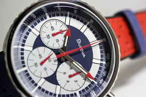 1970年の復刻モデル!BULOVA【ブローバ】ARCHIVEChronographC【アーカイブ・クロノグラフ】ヘリテージ・クォーツ腕時計/正規代理店商品