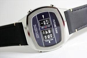 1970年代のローラー式腕時計のFUTUREFUNK【フューチャーファンク】ドラムウォッチ/アナログデジタル腕時計/アナデジ/正規代理店商品/送料無料/クリスマス/腕時計