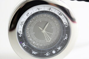 江戸之刻令和版懐中仕様鈍(にび)ポケットウォッチ/グレー文字盤(現代式和時計)世界初の現代式和時計/12枚の干支リングを収納/送料無料/江戸時代の時計/プレゼント/和装/えどのとき/