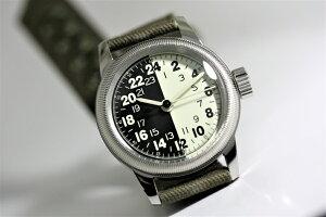 アメリカ陸軍航空隊を復刻!M.R.M.W.ミリタリーウォッチ/TYPEA-17A/24時間表示のクォーツ腕時計/エルジン