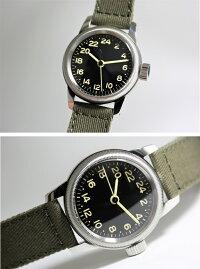 アメリカ陸軍航空隊モデルを復刻!M.R.M.W.ミリタリーウォッチ/TYPEA-11/24時間表示のクォーツ腕時計/エルジン