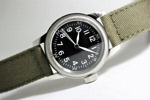 アメリカ陸軍航空隊モデルを復刻!M.R.M.W.ミリタリーウォッチ/TYPEA-11/12時間表示のクォーツ腕時計/エルジン
