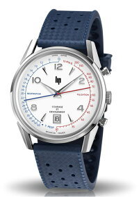 フランスのLIP【リップ】COURAGE【クラージュ】フランス消防士連盟(FNSPF)クォーツ・クロノグラフ腕時計/トリコロールカラー/脈拍計と呼吸計測器機能