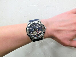 BULOVA【ブローバ】MarineStar【マリンスター】200m防水セミスケルトン自動巻き腕時計/オープンハート/正規代理店商品/送料無料/クリスマス/腕時計