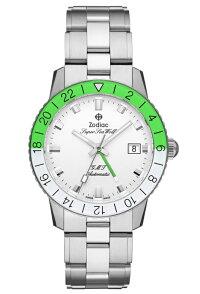 世界限定282本スイス製ZODIACゾディアックSuperSeaWolfGMTスーパーシーウルフNEONSTORYネオンストーリー自動巻き腕時計正規代理店商品AEROSPACEGMTエアロスペースGMTネオングリーンZO9411