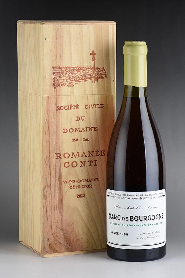 [1989] ドメーヌ・ド・ラ・ロマネ・コンティ DRC マール・ド・ブルゴーニュ 700ml 木箱入り:Wine Cellar KATSUDA 仏銘醸専門店