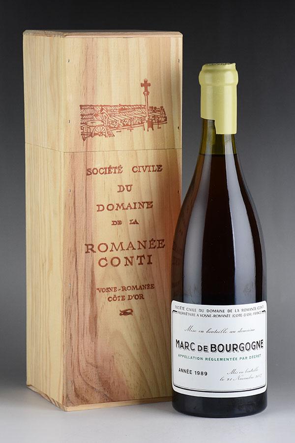 [1989] ドメーヌ・ド・ラ・ロマネ・コンティ DRC マール・ド・ブルゴーニュ 700ml 木箱入り ※ロウキャップ割れ:Wine Cellar KATSUDA 仏銘醸専門店