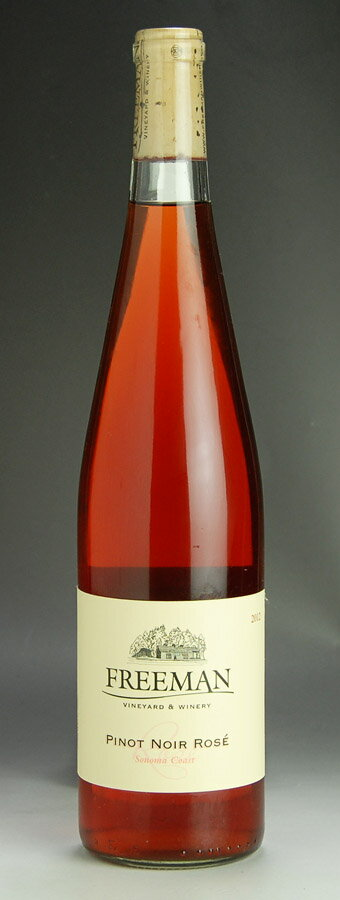 [2012] Sonoma coast Pinot-Noir-Rosé Freeman 750 ml bottle Sonoma Coast Pinot Noir Rose Freeman Vinyard & Winery
