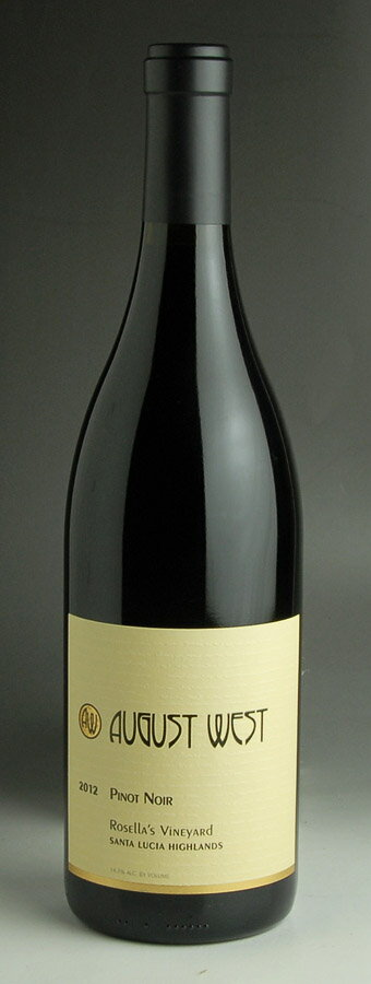 [2012] August West rose lace vineyard Pinot Noir 750 ml August West Rosella's Vineyard Pinot Noir