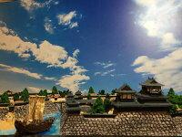 [完成品]坂本城ケース付きミニサイズ明智光秀の城日本の城お城ジオラマ模型プラモデル城郭模型レンタル