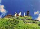 城ミニ[鍬匠甲冑屋] 安芸有田城 A4サイズ 西の桶狭間の城 日本の城 お城のジオラマ模型 プラモデル 城郭模型