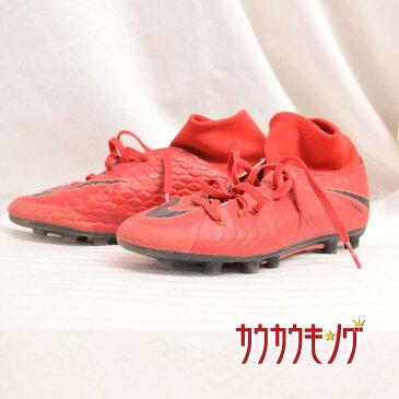 【中古】ナイキ/nike サッカー スパイク シューズ ハイパーヴェノム フェロン 3 DF HG-E レッド サイズ22.5cm 917765-616