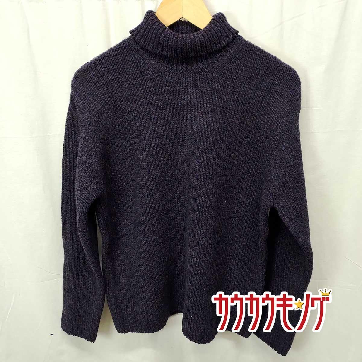 ニット・セーター, セーター () AURALEE CAMEL WOOL MIX KNIT TURTLE NECK PO 1 MIX BLACK