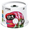 TDK_CD-R_PC�ǡ�����700MB1-32��®_CD-R80EWX50PS_50��_�ۥ磻��_1�ѥå�