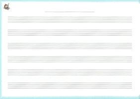 くおん出版【送料無料】【メール便】おんがくノート2だん5冊セット楽譜スコア子供こどもシニアピアノレッスン