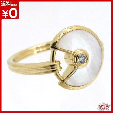 【正規品】【新古品】【新品仕上げ済み】 Cartier カルティエ アミュレット エクストラスモール リング 1PD パール ダイヤモンド #50 約9.5号 指輪 K18 YG イエローゴールド アクセサリー ジュエリー 【買蔵】