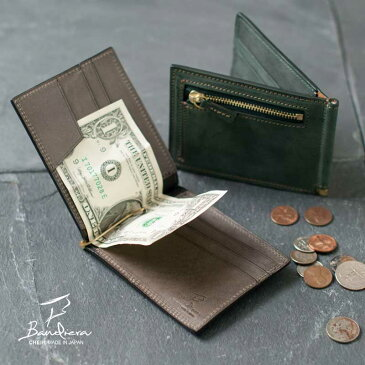 マネークリップ 財布 小銭入れ付き コインケース付き 本革 札ばさみ メンズ レザー カード段あり 薄い スリム 薄型 二つ折り財布 ブランド シンプル 人気 プレゼント 誕生日 全6色