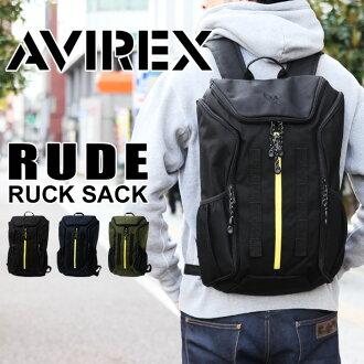 AVIREX avirex 粗魯背包背包墊袋與 A4 男子戶外旅行背包軍用挎包書包平板筆記本 PC