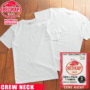 送料無料 RED KAP レッドキャップ Single Jersey 2パック クルーネックTシャツ メンズ トップス インナー 半袖 Tシャツ 無地 クルーネック 2枚組 厚手 アンダーウェア メール便