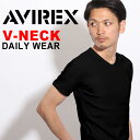 送料無料 AVIREX Tシャツ アビレックス デイリー Tシャツ avirex アヴィレックス メンズ レディース Vネック Tシャツ 6143501 617351 父の日 プレゼント