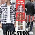 チェックシャツ メンズ HOUSTON ヒューストン ビエラワークシャツ メンズ シャツ ネルシャツ ワークシャツ ヴィエラ シャツ ブランド 161203ss50