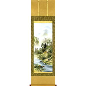 Hanging scroll Sukufuku Sansui Tominaga One-sided work Modern hanging sale Floor floor Made-to-order product