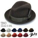 """帽子 アメリカ""""Bailey(ベイリー)""""ウールフエルト中折れ帽<TINO>[ハット] [大きいサイズの帽子アリ][小さいサイズあり]【あす楽対応】【コンビニ受取対応商品】"""