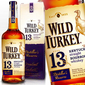 バーボン, ストレート  13 700ml 45.5 Wild Turkey 13years kentucky straight bourbon whiskey kawahc