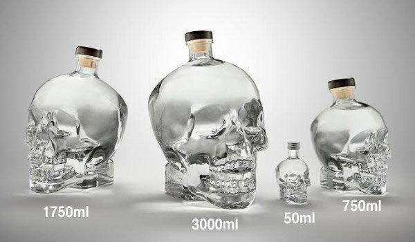 【超特大3L】頭蓋骨 髑髏 ドクロ クリスタル ヘッド ウォッカ 特大 3000ml 40度 SUPER BIG 箱付 Crystal Head Vodka がい骨 骸骨 ガイコツ スカル クリスタル ウォッカ クリスタルウォッカ kawahc
