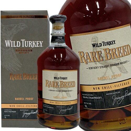 バーボン, ストレート  1000ml 58.4 Wild Turkey RARE BREED kentucky straight bourbon whiskey kawahc
