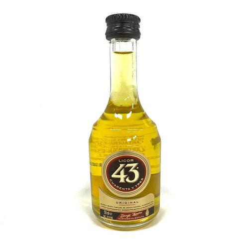 リコール43ミニチュアボトル50ml31度正規輸入品LICOR43クアレンタ・イ・トレススペイン産の甘口リキュールGOLDMOM