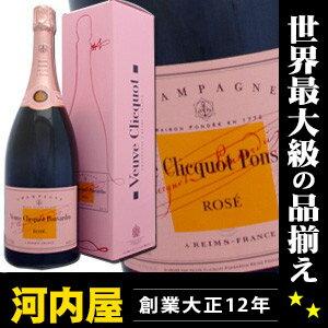 ヴーヴ・クリコ・ローズラベル(ロゼ) マグナムボトル 1.5L(1500ml)ギフトBOX箱入 正規代理...