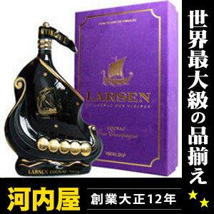 ブランデー, コニャック  700ml 40 (Larsen Black Viking Ship Fine Champagne Cognac) kawahc