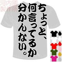 河内國製作所「ちょっと、何言ってるか分かんない。Tシャツ」全5色。センテンス系おもしろTシャツ文字T-shirtおもしろてぃーしゃつ半袖ドライTシャツメール便は送料無料