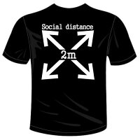 河内國製作所「ソーシャルディスタンスTシャツ」全5色。SocialdistanceおもしろTシャツ文字T-shirtおもしろてぃーしゃつ半袖ドライTシャツメール便は送料無料