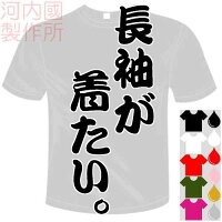 河内國製作所「長袖が着たい。Tシャツ」全5色。センテンス系おもしろTシャツ文字T-shirtおもしろてぃーしゃつ半袖ドライTシャツメール便は送料無料