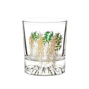 色が変わる冷感グラス 藤 ロックグラス 210ml おしゃれ ガラス グラス コップ 酒器 冷感 色変化 初夏 プレゼント ギフト お祝い 日本酒 ウイスキー FUJI-RG