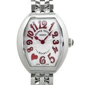 【中古】フランクミュラーハートトゥハートトレゾ腕時計5002SQZC7HJREDクォーツシルバー文字盤FRANCKMULLER
