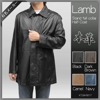 • 皮革吉恩可轉換領半大衣皮大衣、 皮衣、 皮革、 大尺寸