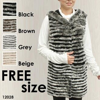 兔毛針織的背心 12028 婦女的毛皮和最佳兔最少最少的最佳無袖、 天然毛皮