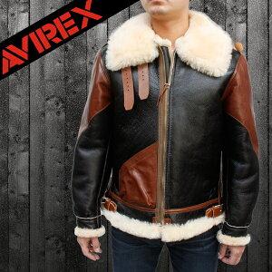 【AVIREX/アビレックス】B-3ムートン ヴィンテージタイプ レザージャケット