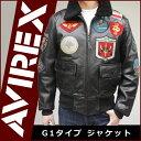 AVIREX トップガン フライトジャケット レザージャケット 革ジャン メンズ G-1 M/L/LL ブラック 黒 ダークブラウン 茶色 6181013