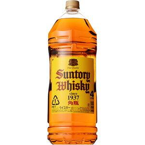 サントリー 角瓶 40度4000ml(正規品)<ペット洋酒><ウイスキー>※4本まで1個口配送出来ますジ...