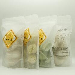 『かわしも焼き餃子』を2パック(20ヶ)、『かわしも焼売』1パック(10ヶ)、『三鮮水餃子』1パック(10ヶ)、計4パック(40ヶ)のパッケージセット