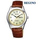 CITIZEN シチズン レグノ REGUNO KM1-211-30 ソーラーテック メンズ 腕時計 ウォッチ 時計 シルバー色 カーフストラップ 国内正規品 メーカー保証付 誕生日プレゼント 男性 ギフト ブランド かっこいい もてる 送料無料
