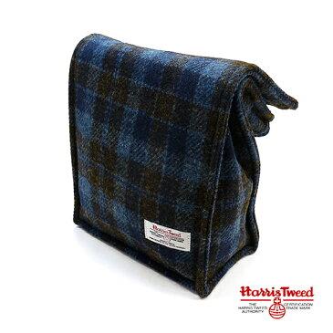 HarrisTweed(ハリスツイード) トーンオントーンチェック ツイード フリーバッグ / ブロック ブルー / eg152739z6000 バッグ セカンドバッグ トートバッグ ハンドバッグ ポーチ ランチバッグ クラッチバッグ