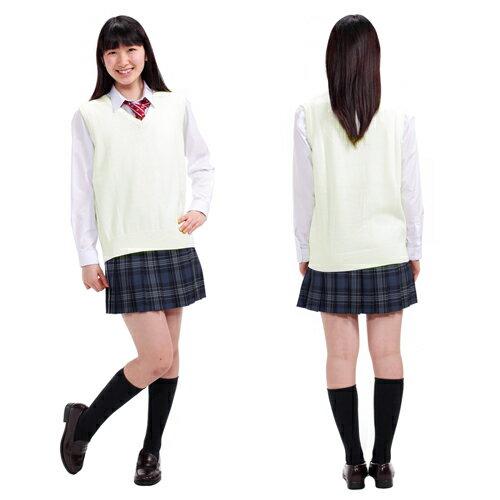 スクールベスト ベスト ニット 制服 女子 中学生 高校生 ブランド 人気 綿混 ウォッシャブルニット