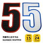 特大サイズ数字ワッペン(縦20cm)【数字1枚のお値段です】【アイロンで簡単につきます】【ナンバー】【背番号】【サッカー】【野球】【刺繍】【応援】